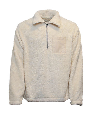 Helmut Lang - Fleece - Pullover Sweat Fleece - Hvid