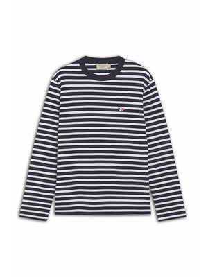 Maison Kitsune Long Sleeve Tee Tricolor Fox - Navy
