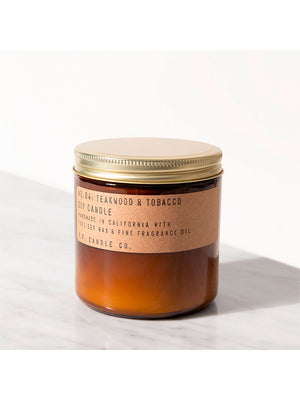 P.F. Candle - Duftlys - No. 04 Teakwood & Tobacco