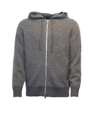 Theory - Strik - Gunter Wool Zip Hoodie - Grå