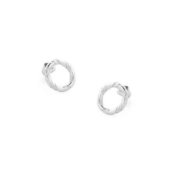 Tutti & Co Rope Earrings Silver