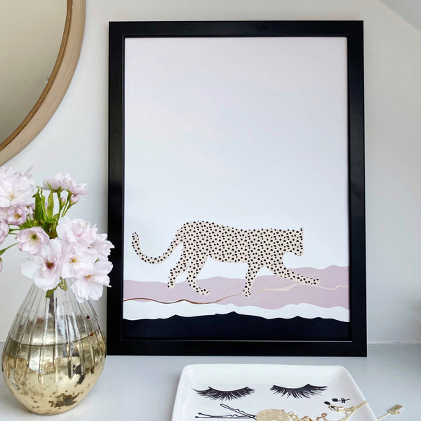 Leopard Wave Art Print