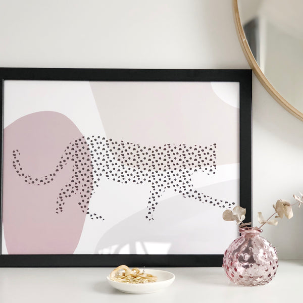 Roaming Leopard Art Print