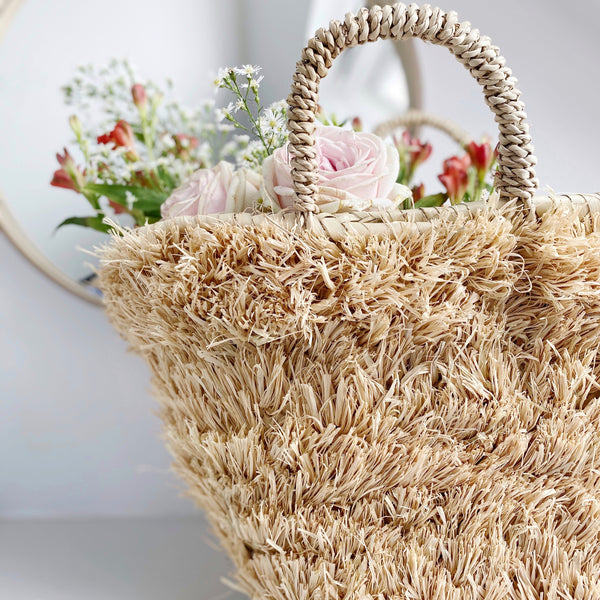 Raffia French Basket