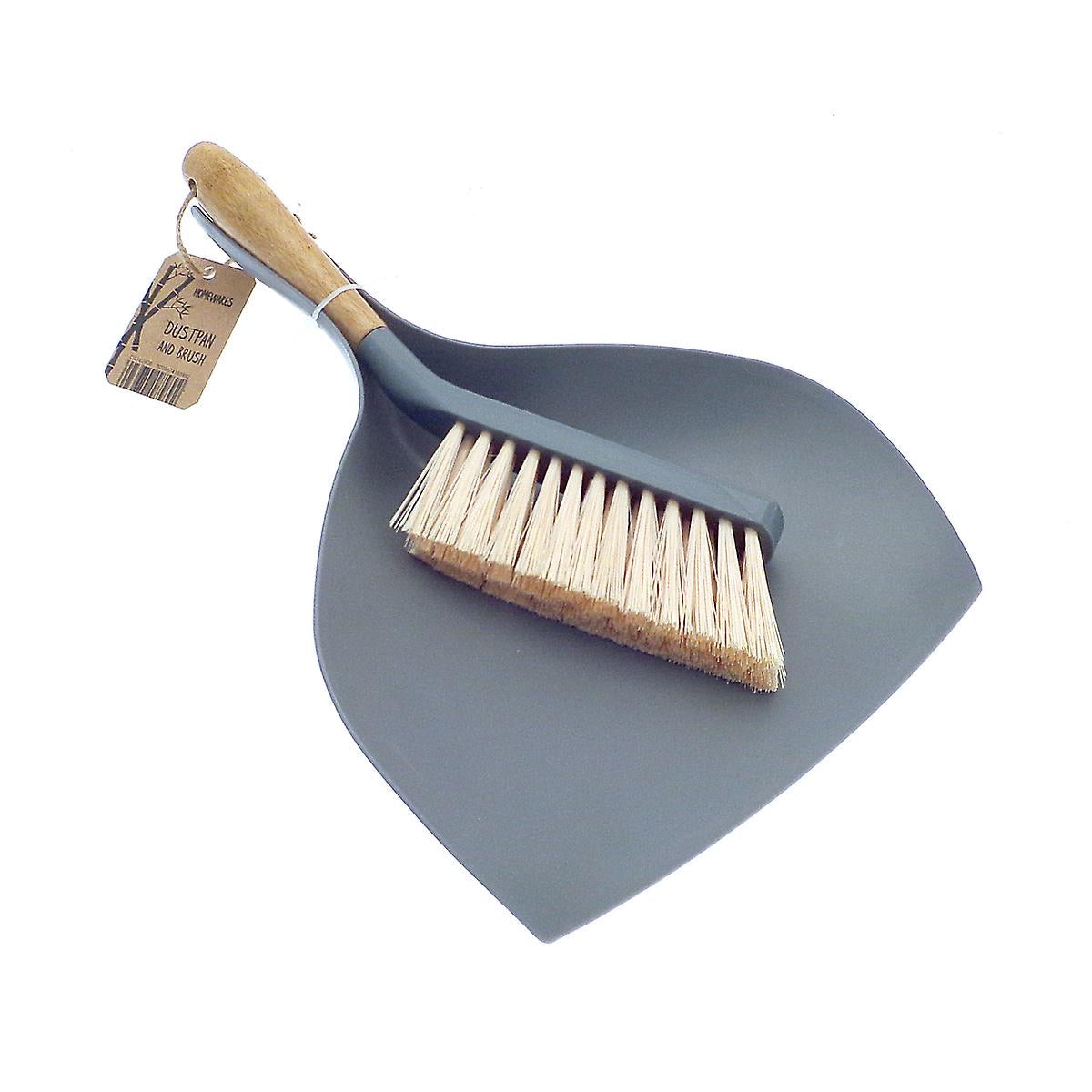 Bamboo Dustpan and Brush Large