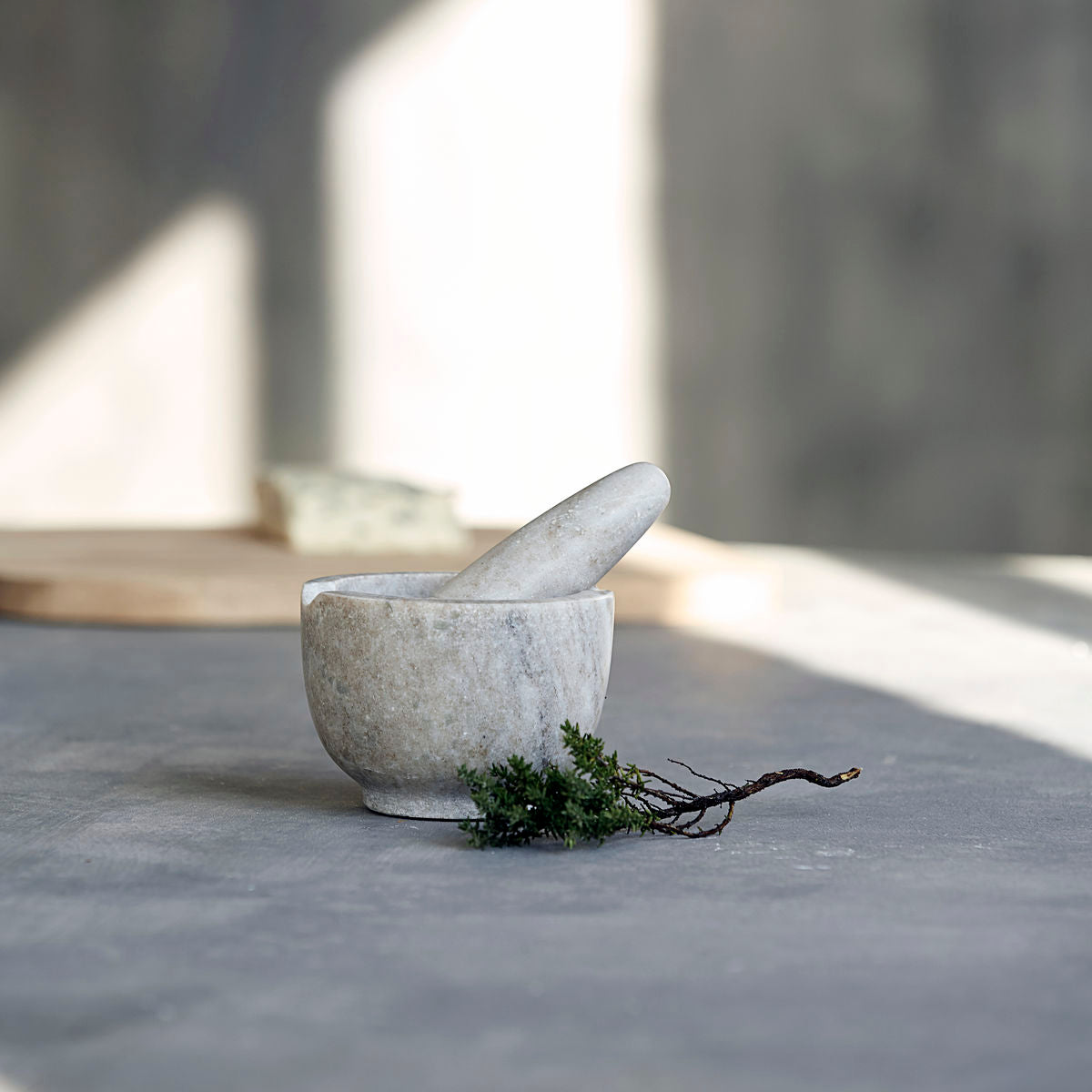 House Doctor Marble Pestle and Mortar