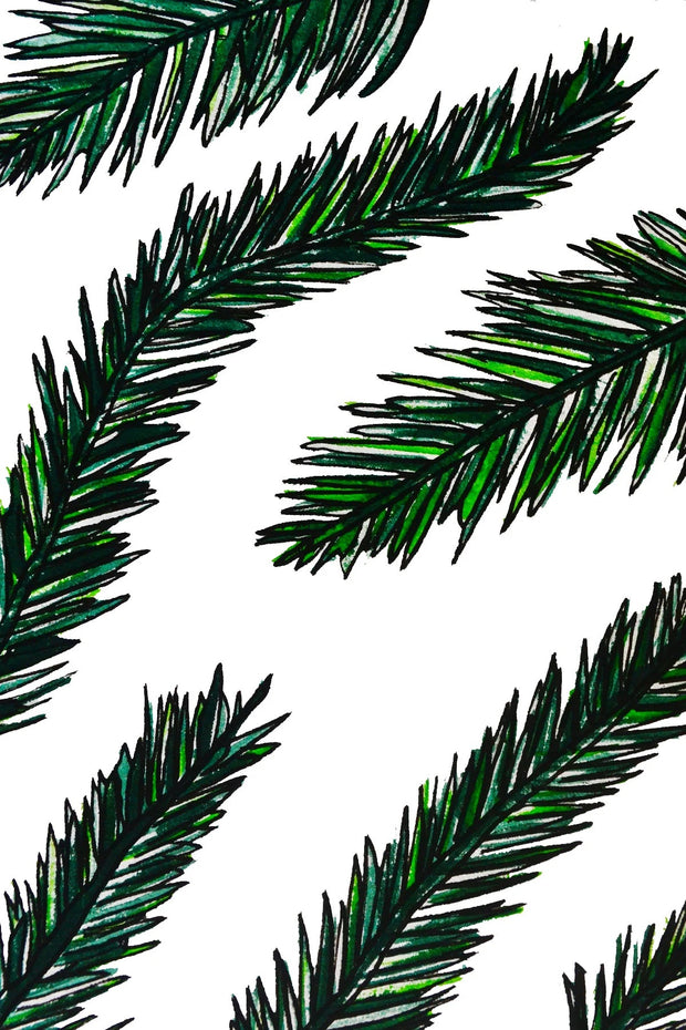 Christams Tree leaves Greeting Card