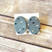 Oval Studs Earrings