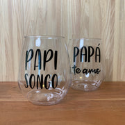 Father's Day Plastic Wine Glasses