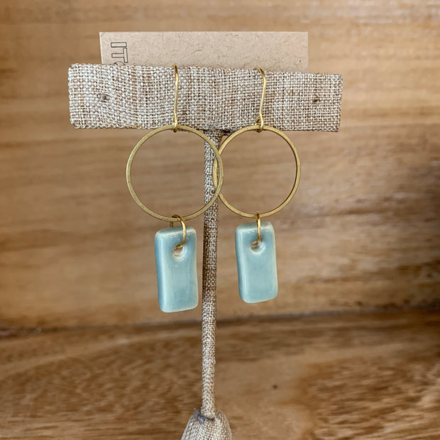 Sky Rectangle Earrings