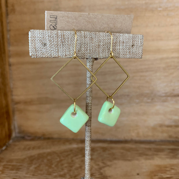 Mint Diamond Earrings