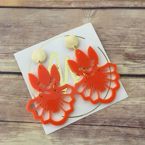 Coyoacan Orange Earrings