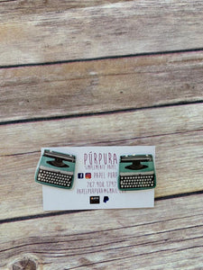 typewriter earrings