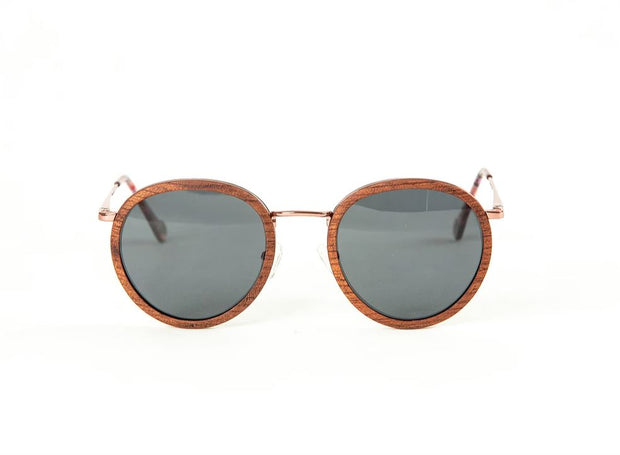 Humami Teak / Ebony Wood Rim Sunglasses