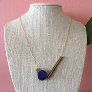Blue Circle Necklace