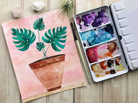 Monstera Watercolor Workshop