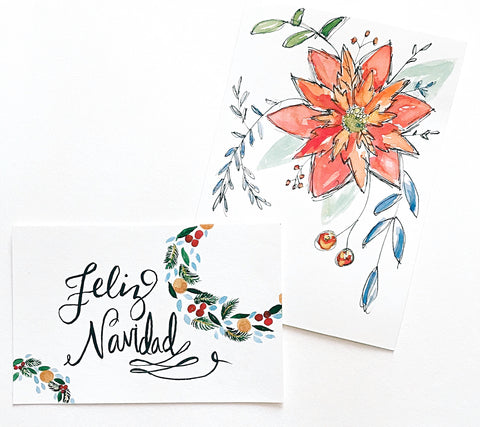 Christmas Cards Watercolor Workshop- NOV 24