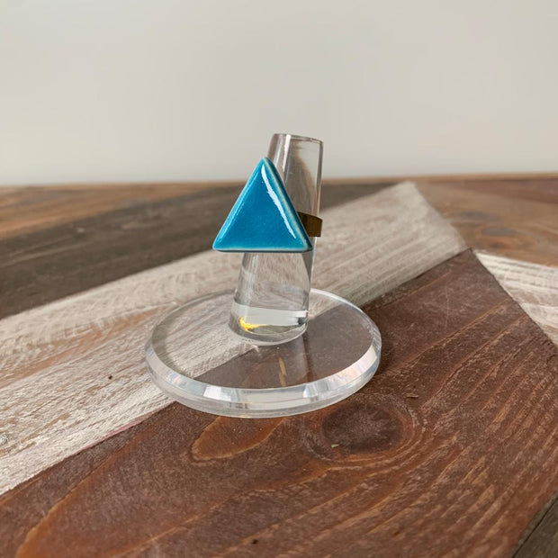 Itsari Blue Triangle Ring