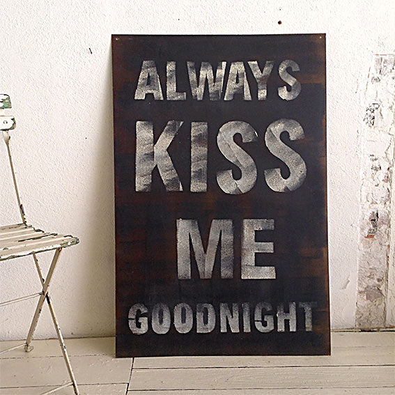 Cartel ALWAYS KISS ME GOODNIGHT