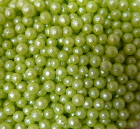 Glimmer Pearls - Lime