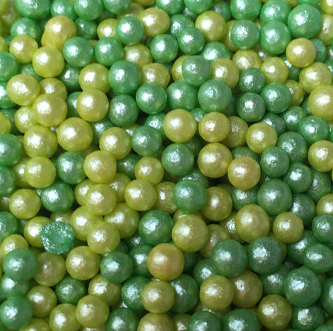 Glimmer Pearls - Green Mix