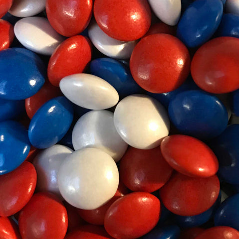 Mini Chocolate Beans - Red, White and Blue
