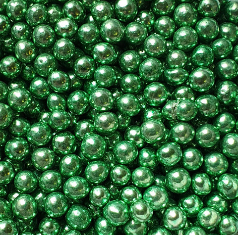 Pearls metallic - Green 4mm