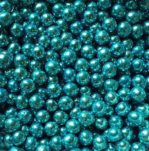 Pearls metallic - Blue 4mm