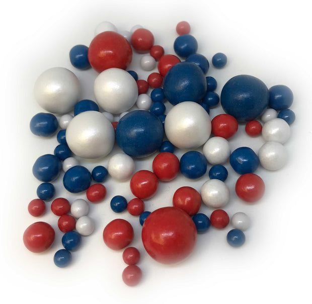Sprinkletti - Bubbles - Red, White and Blue