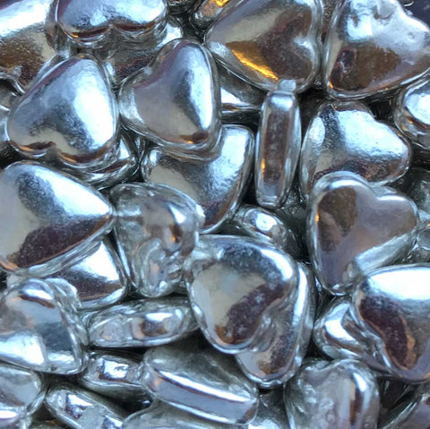 Shapes - Hearts - Tablet - Metallic Silver