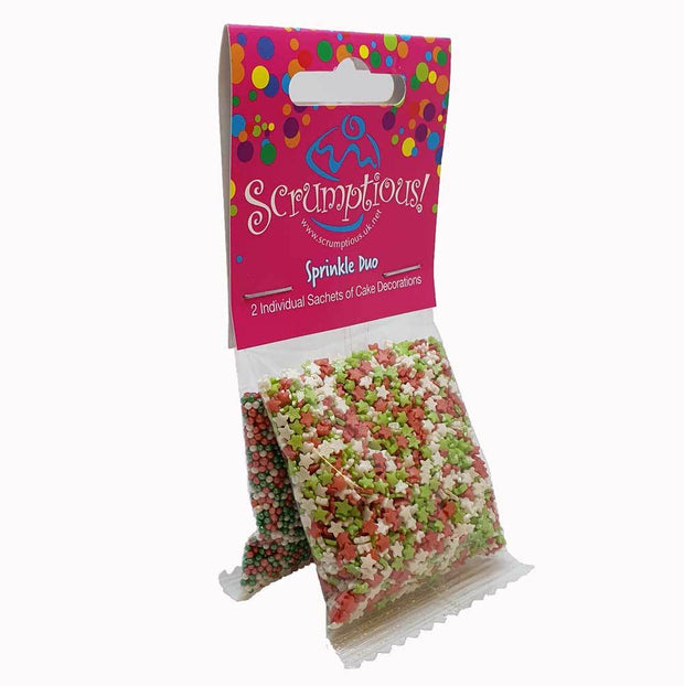 Sprinkle Duo - Red, Green and White