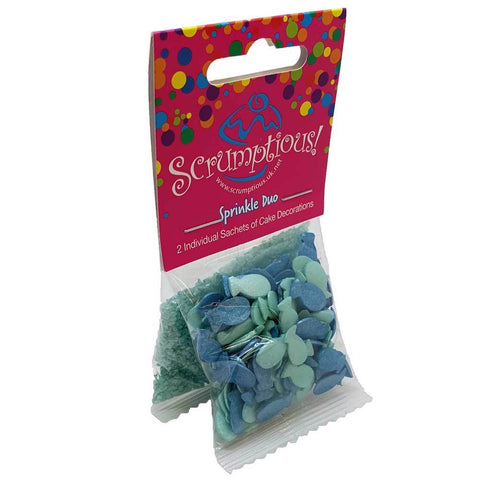 Sprinkle Duo - Turquoise Sugar and Fishes