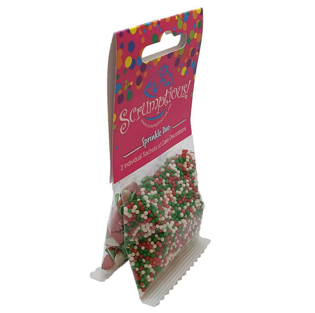 Sprinkle Duo - Red, Green and white 100s and 100s and Glimmer Red, Green and White Trees