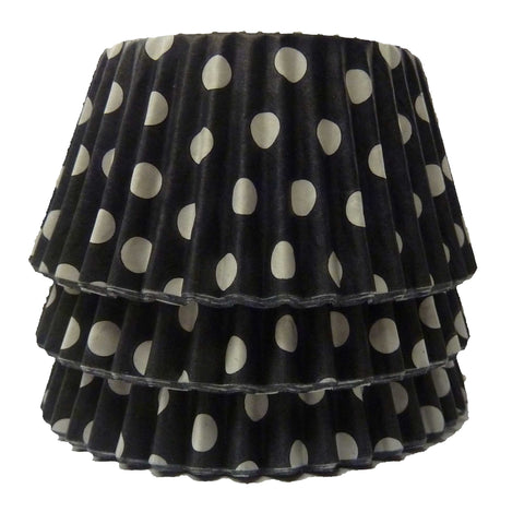Cupcake Cases - Polkadot - Black