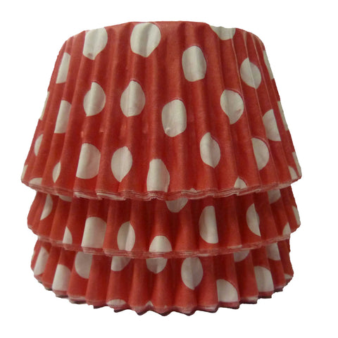 Cupcake Cases - Polkadot - Red