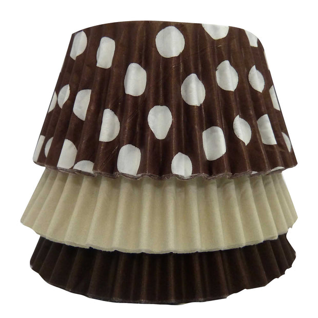 Cupcake Cases - Mixed - Brown Polka