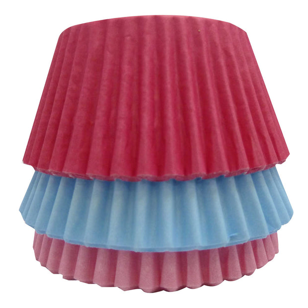 Cupcake Cases - Mixed - Solid Pink, Blue and Cerise
