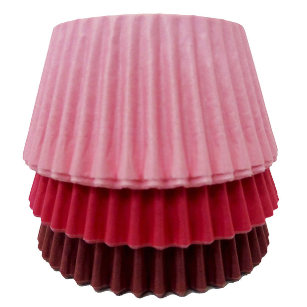 Cupcake Cases - Mixed - Solid Pink, Cerise and Burgundy