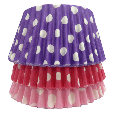 Cupcake Cases - Mixed - Dotty Purple, Pink and Cerise