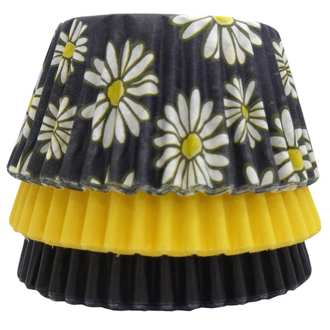 Cupcake Cases - Mixed - Black Daisy