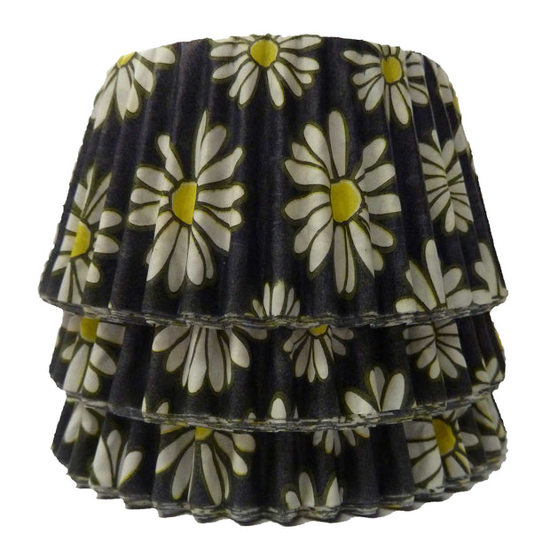 Cupcake Cases - Patterned - Black Daisy