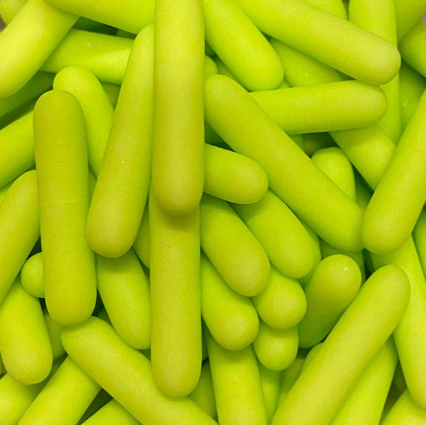 Matt Macaroni Rods - Lime