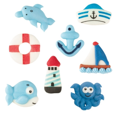 Toppers - Sugar Sea Set - Flat - Assorted x 72