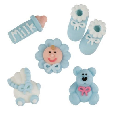 TRADE Toppers - Christening Set - Sugar - Blue