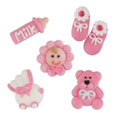 TRADE Toppers - Christening Set - Sugar - Pink x 96