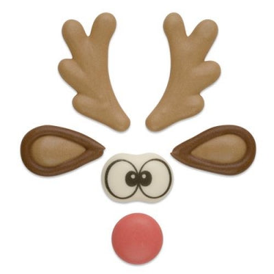 TRADE Toppers - Sugar Reindeer Set - Flat - Assorted