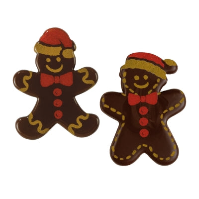 Toppers - Gingerbread Men - Dark Chocolate - Assorted