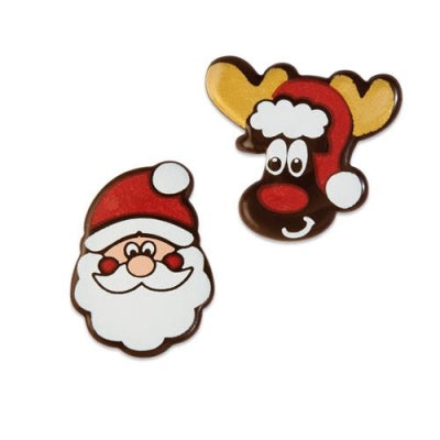 Toppers - Santa and Reindeer - Assortment - Dark Chocolate