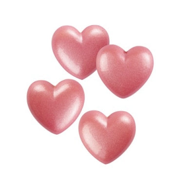TRADE Toppers - Small Hearts - Pink - White Chocolate