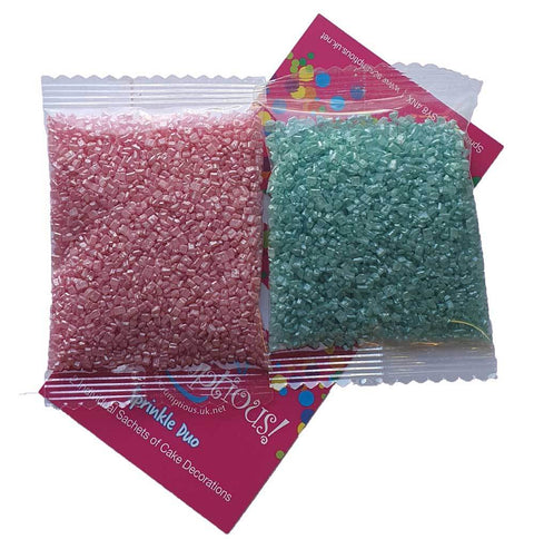 Sprinkle Duo - Turquoise Sugar and Pink Sugar